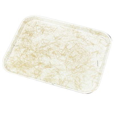 "Carlisle 1318DFG030 Rectangular Display/Bakery Tray - 12-3/4x17-3/4x1"" Starfire Natural"