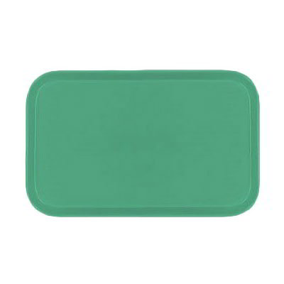 "Carlisle 1318FG007 Rectangular Display/Bakery Tray - 12-3/4x17-3/4x1"" Tropical Green"