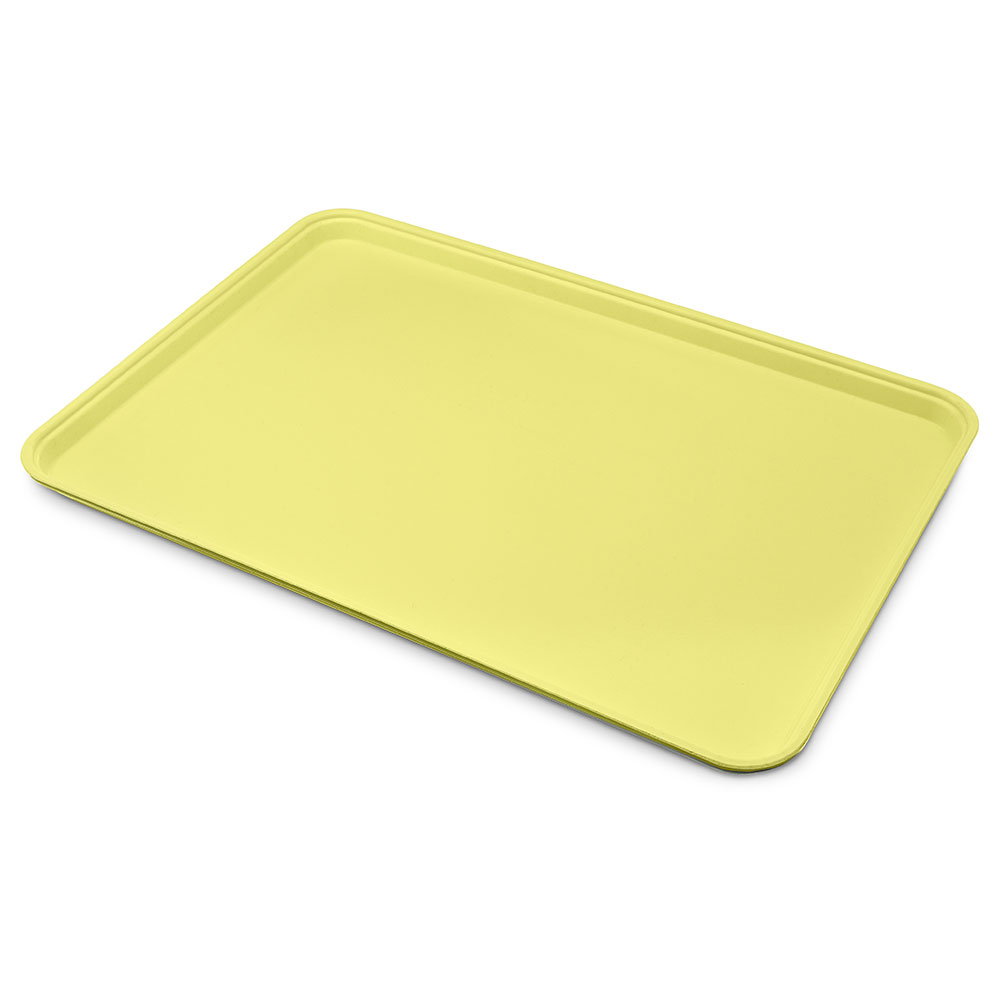 "Carlisle 1318FG021 Rectangular Display/Bakery Tray - 12-3/4x17-3/4x1"" Pineapple"