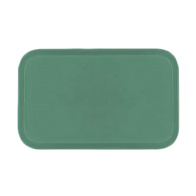 "Carlisle 1318FG053 Rectangular Display/Bakery Tray - 12-3/4x17-3/4x1"" Jade"