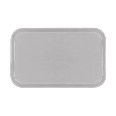 "Carlisle 1318FG068 Rectangular Display/Bakery Tray - 12-3/4x17-3/4x1"" Gray"