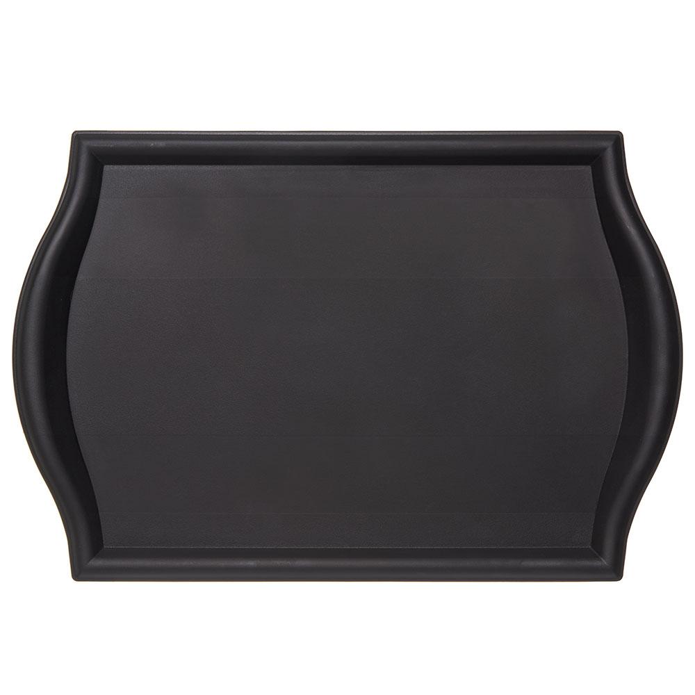 "Carlisle 1319BT03 Rectangular Bistro Tray - 19x13"" Black"