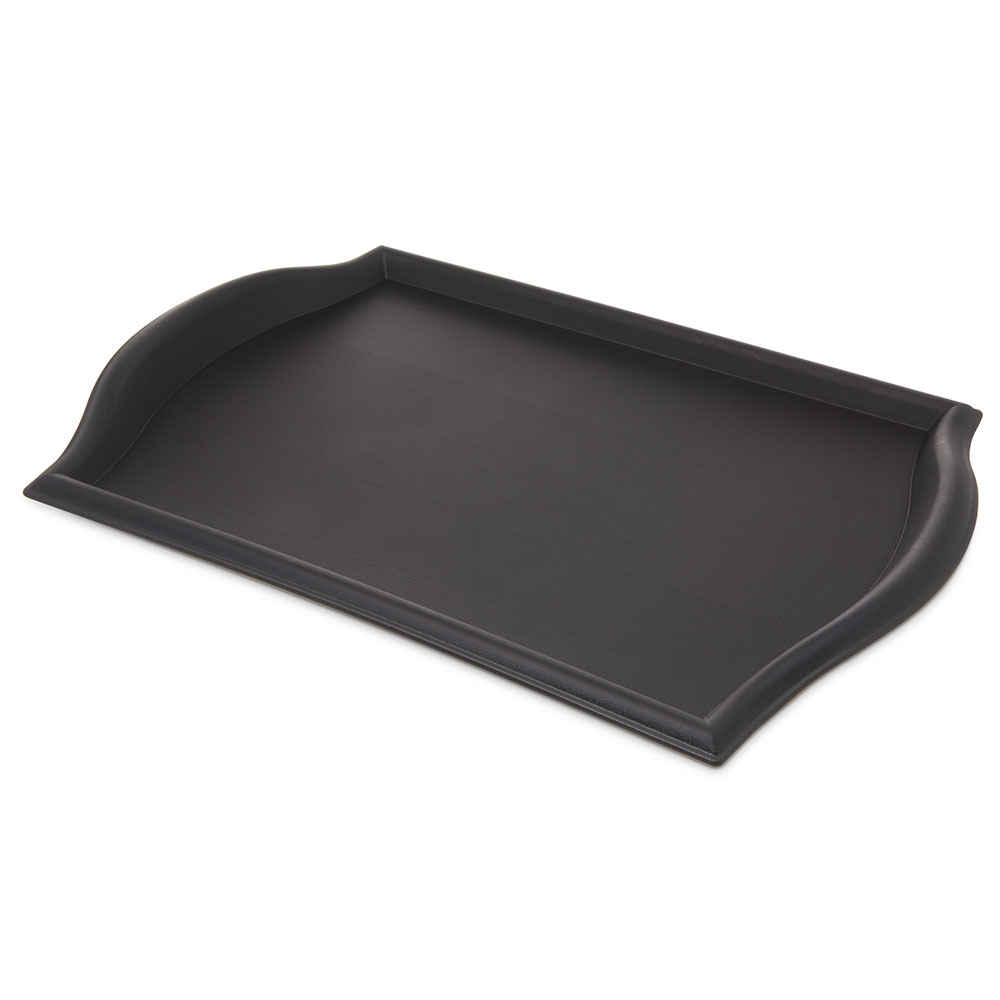 "Carlisle 1319BT03 Rectangular Bistro Tray - 19x13"" Black"