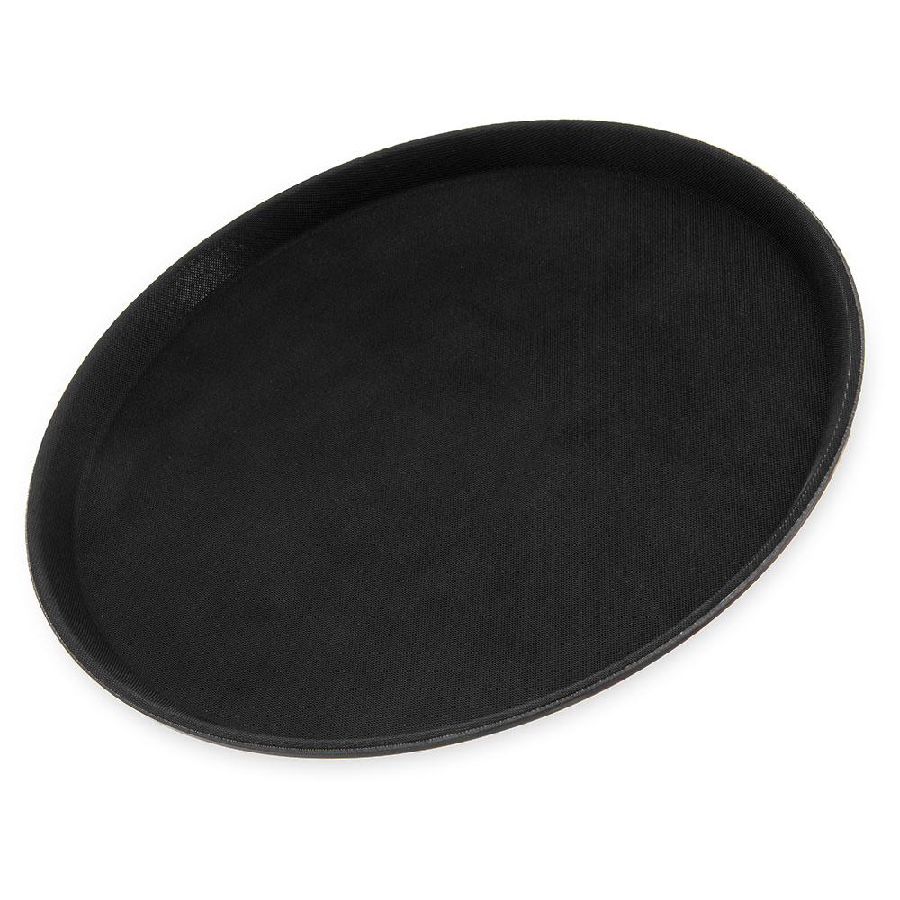 "Carlisle 1400GL004 14-5/8"" Round Serving Tray - Black"
