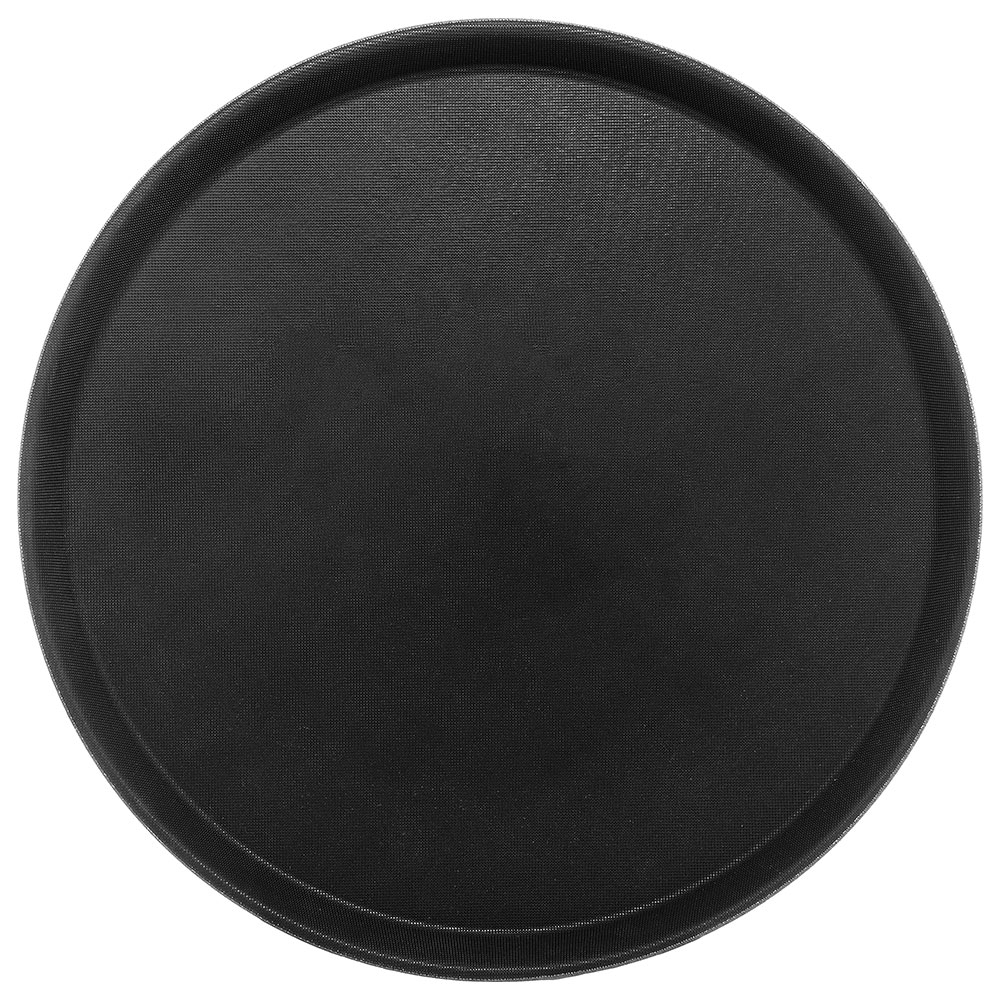 "Carlisle 1400GL004 14-5/8"" Round Serving Tray - Black"