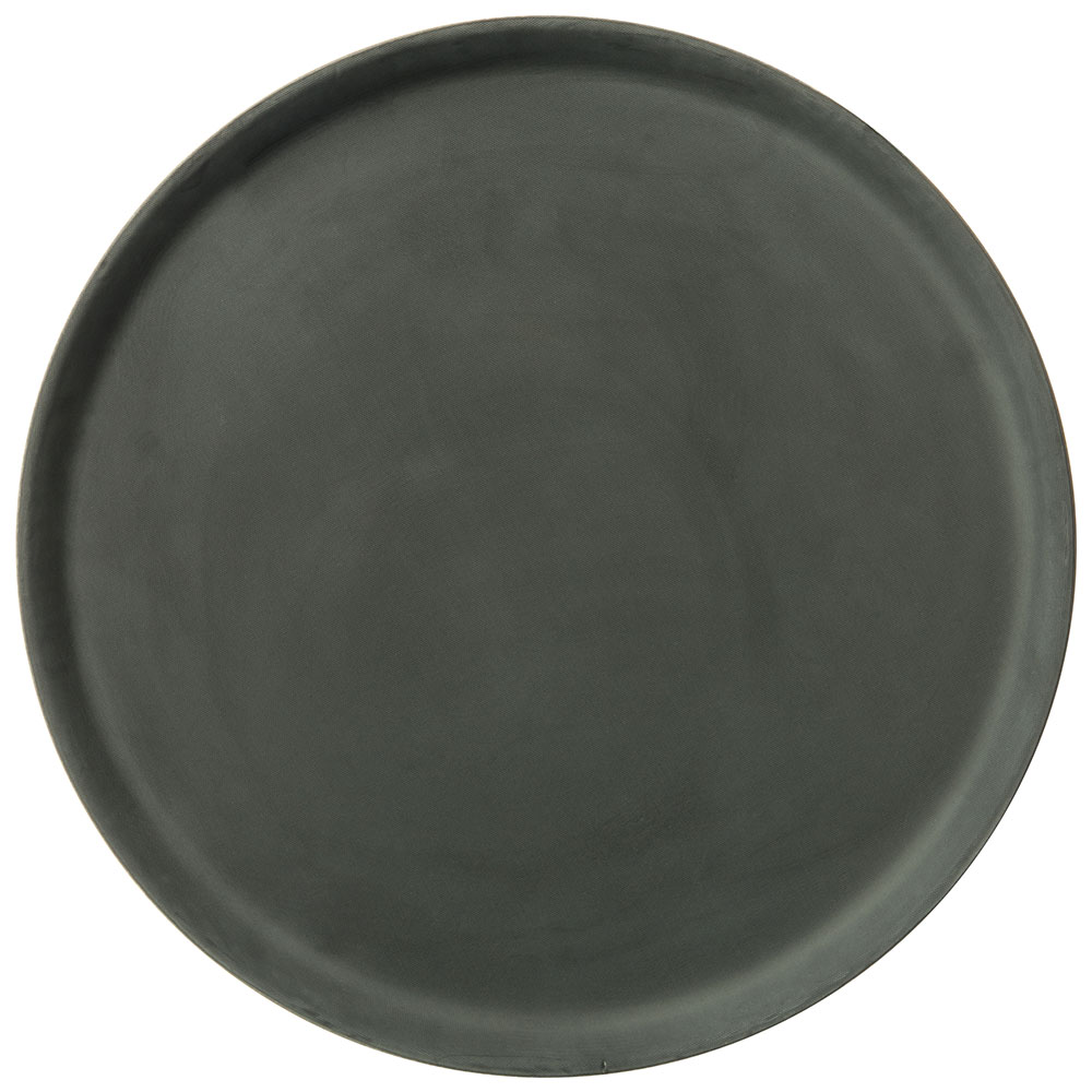"Carlisle 1400GR004 14"" Round Serving Tray - Black"