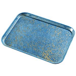 "Carlisle 1410DFG029 Rectangular Cafeteria Tray - 13-3/4x10-5/8"" Starfire Blue"