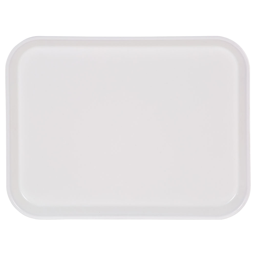 "Carlisle 1410FG001 Rectangular Cafeteria Tray - 13-3/4x10-5/8"" Bone White"