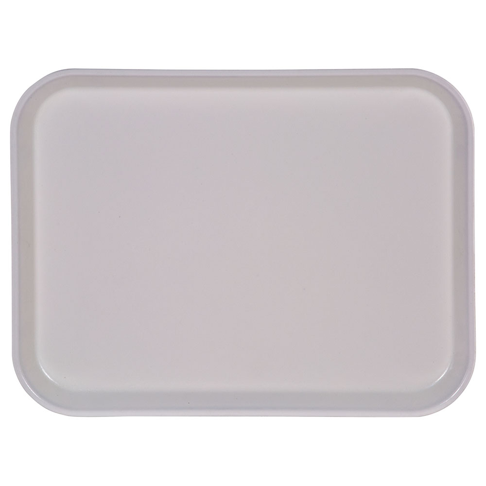 "Carlisle 1410FG002 Rectangular Cafeteria Tray - 13-3/4x10-5/8"" Smoke Gray"