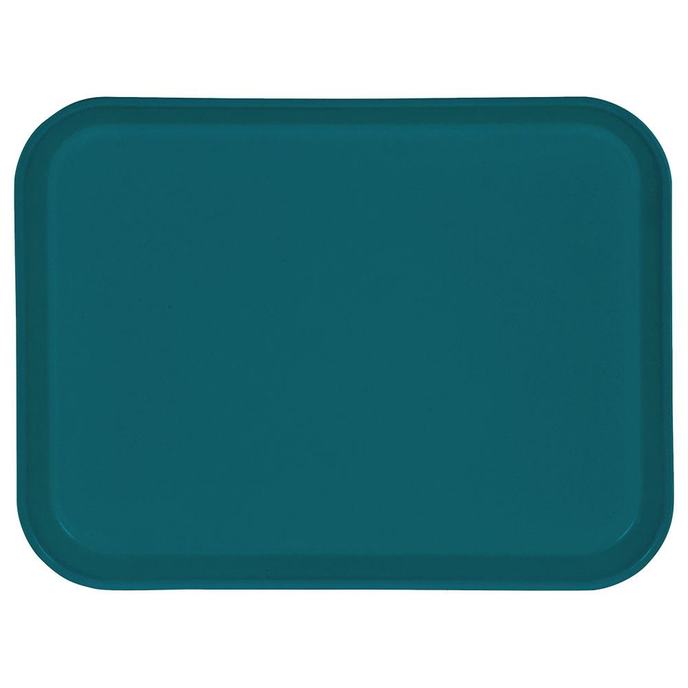 "Carlisle 1410FG006 Rectangular Cafeteria Tray - 13-3/4x10-5/8"" Ultramarine"