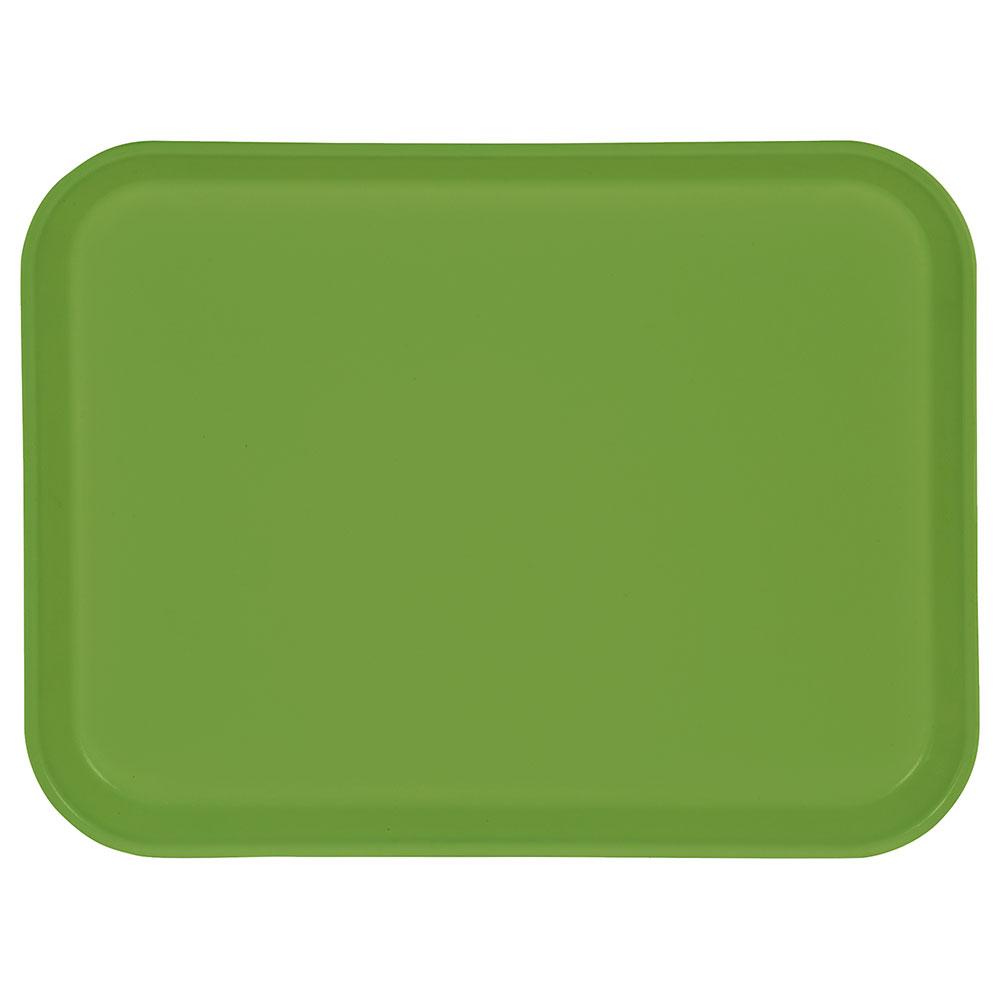 "Carlisle 1410FG009 Rectangular Cafeteria Tray - 13-3/4x10-5/8"" Lime"