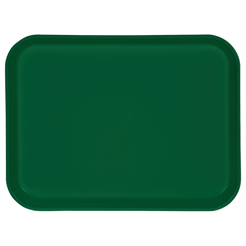 """Carlisle 1410FG010 Rectangular Cafeteria Tray - 13-3/4x10-5/8"""" Forest Green"""