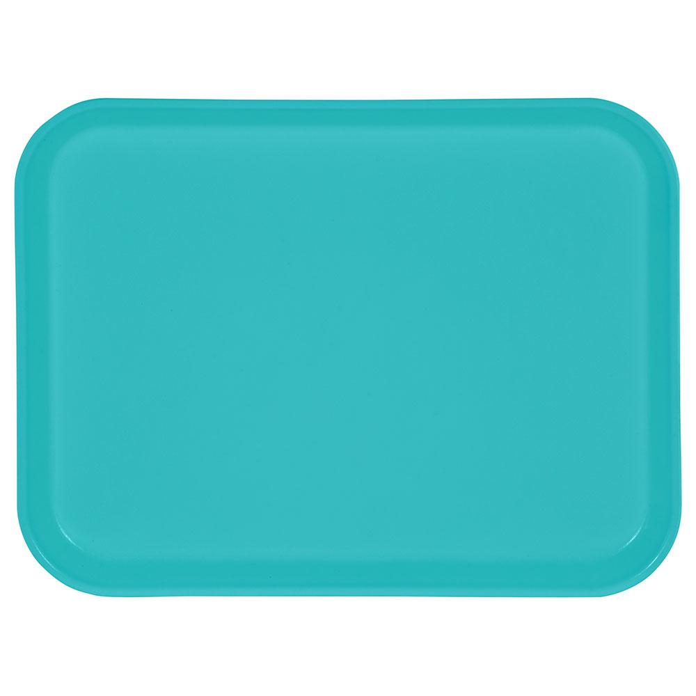 "Carlisle 1410FG011 Rectangular Cafeteria Tray - 13-3/4x10-5/8"" Turquoise"