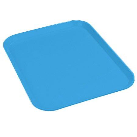 "Carlisle 1410FG013 Rectangular Cafeteria Tray - 13-3/4x10-5/8"" Ice Blue"