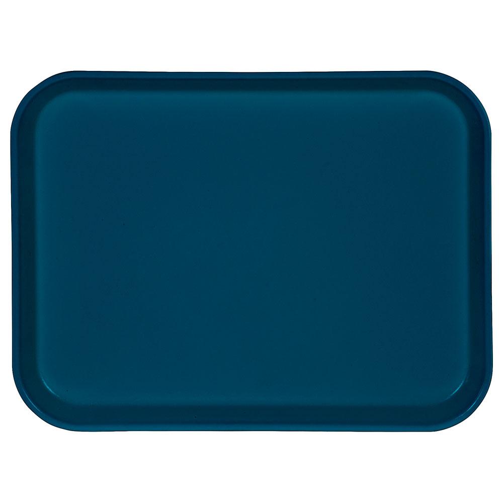 """Carlisle 1410FG014 Rectangular Cafeteria Tray - 13-3/4x10-5/8"""" Cobalt Blue"""