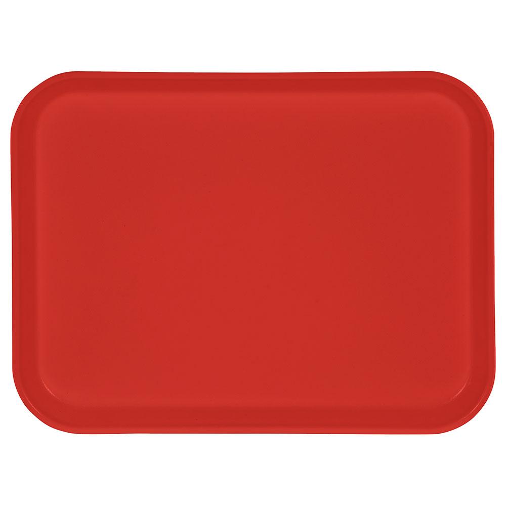 "Carlisle 1410FG020 Rectangular Cafeteria Tray - 13-3/4x10-5/8"" Coral"