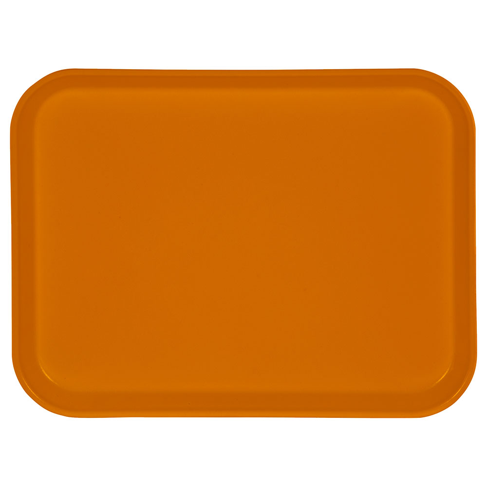 "Carlisle 1410FG023 Rectangular Cafeteria Tray - 13-3/4x10-5/8"" Gold"