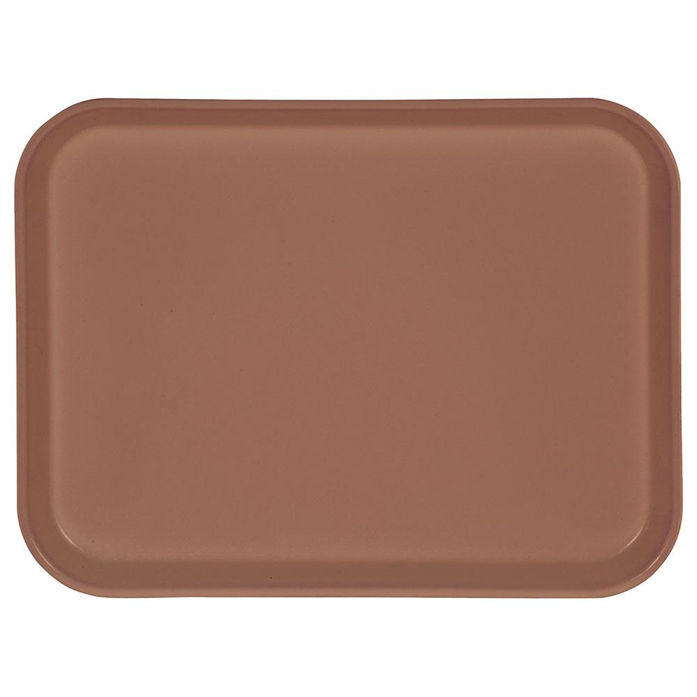 """Carlisle 1410FG066 Rectangular Cafeteria Tray - 13-3/4x10-5/8"""" Mauve"""