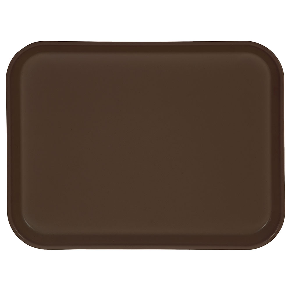 "Carlisle 1410FG127 Rectangular Cafeteria Tray - 13-3/4x10-5/8"" Chocolate"