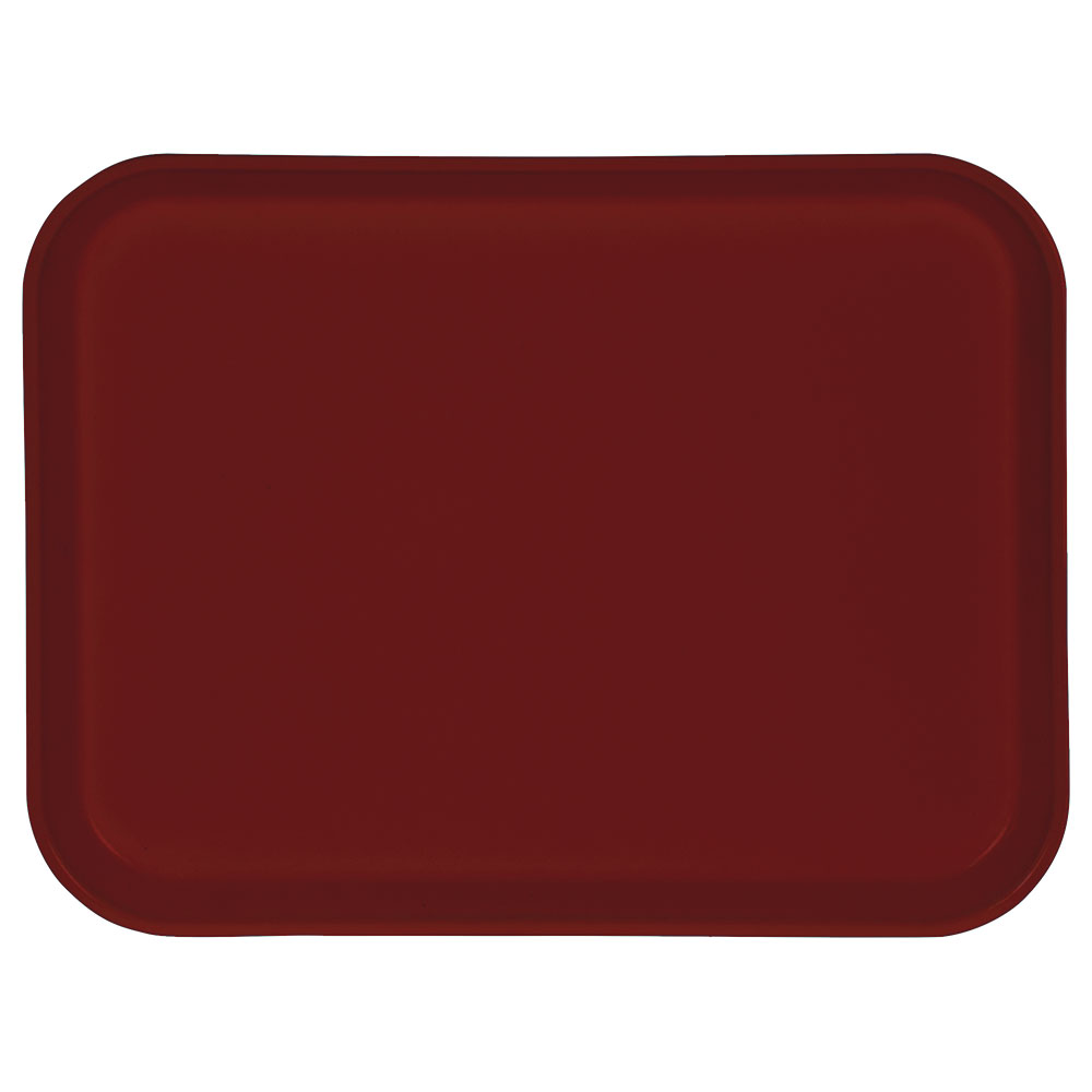 "Carlisle 1410FG97030 Rectangular Cafeteria Tray - 13-3/4x10-5/8"" Cherry Red"