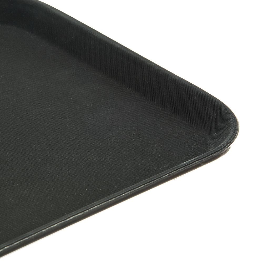 "Carlisle 1410GR004 Rectangular Serving Tray - 13-13/16x10-5/8"" Black"