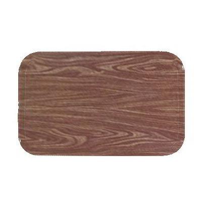 "Carlisle 1410WFG063 Rectangular Cafeteria Tray - 13-3/4x10-5/8"" Pecan Woodgrain"