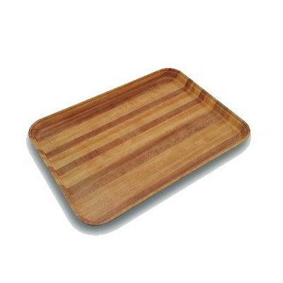 "Carlisle 1410WFG092 Rectangular Cafeteria Tray - 13-3/4x10-5/8"" Butcher Block Woodgrain"