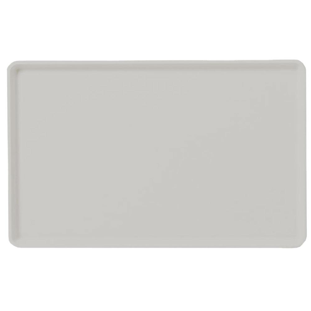 "Carlisle 1418LFG002 Rectangular Cafeteria Tray - Low-Edge, 18x14"" Smoke Gray"