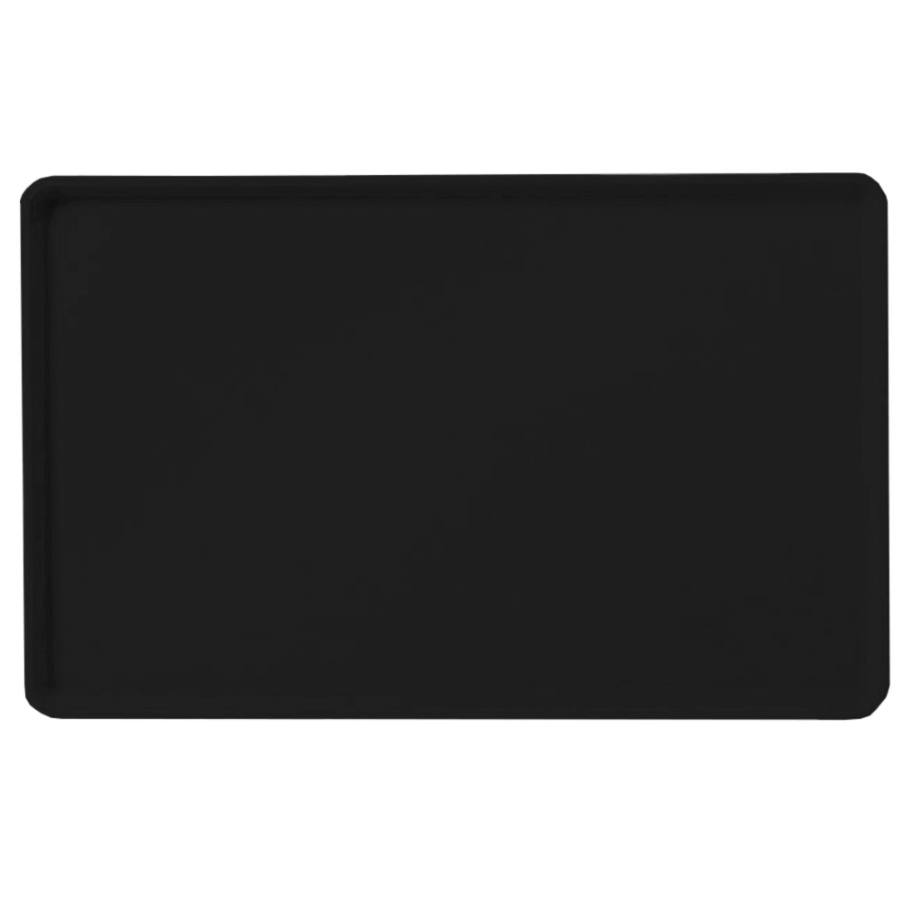 "Carlisle 1418LFG004 Rectangular Cafeteria Tray - Low-Edge, 18x14"" Black"