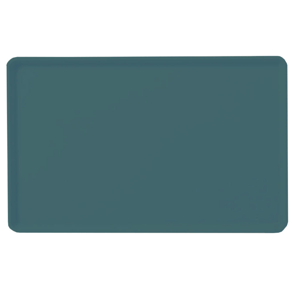 "Carlisle 1418LFG006 Rectangular Cafeteria Tray - Low-Edge, 18x14"" Ultramarine"