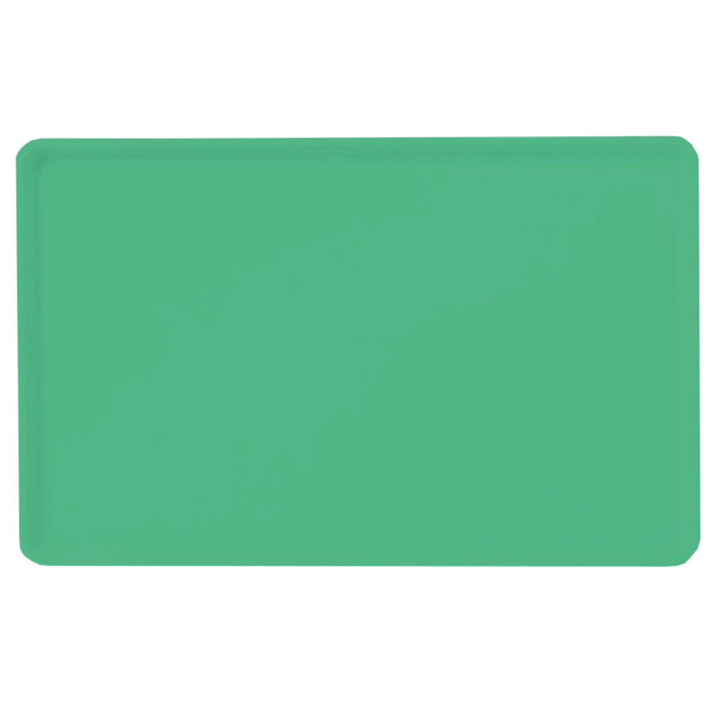 "Carlisle 1418LFG007 Rectangular Cafeteria Tray - Low-Edge, 18x14"" Tropical Green"