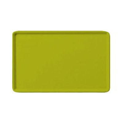 "Carlisle 1418LFG008 Rectangular Cafeteria Tray - Low-Edge, 18x14"" Avocado"