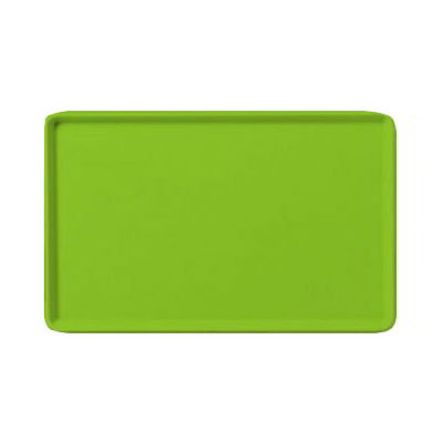 "Carlisle 1418LFG009 Rectangular Cafeteria Tray - Low-Edge, 18x14"" Lime"