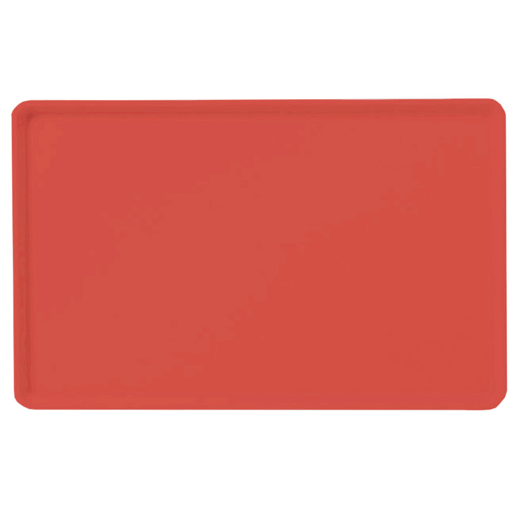 "Carlisle 1418LFG017 Rectangular Cafeteria Tray - Low-Edge, 18x14"" Red"
