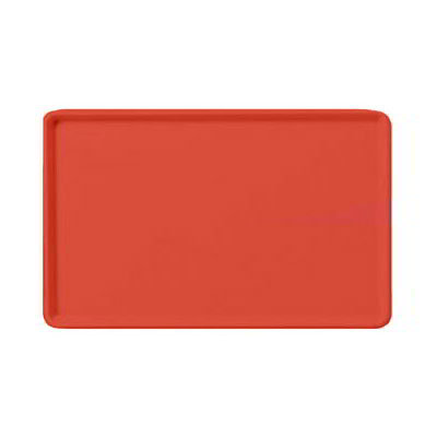"Carlisle 1418LFG020 Rectangular Cafeteria Tray - Low-Edge, 18x14"" Coral"