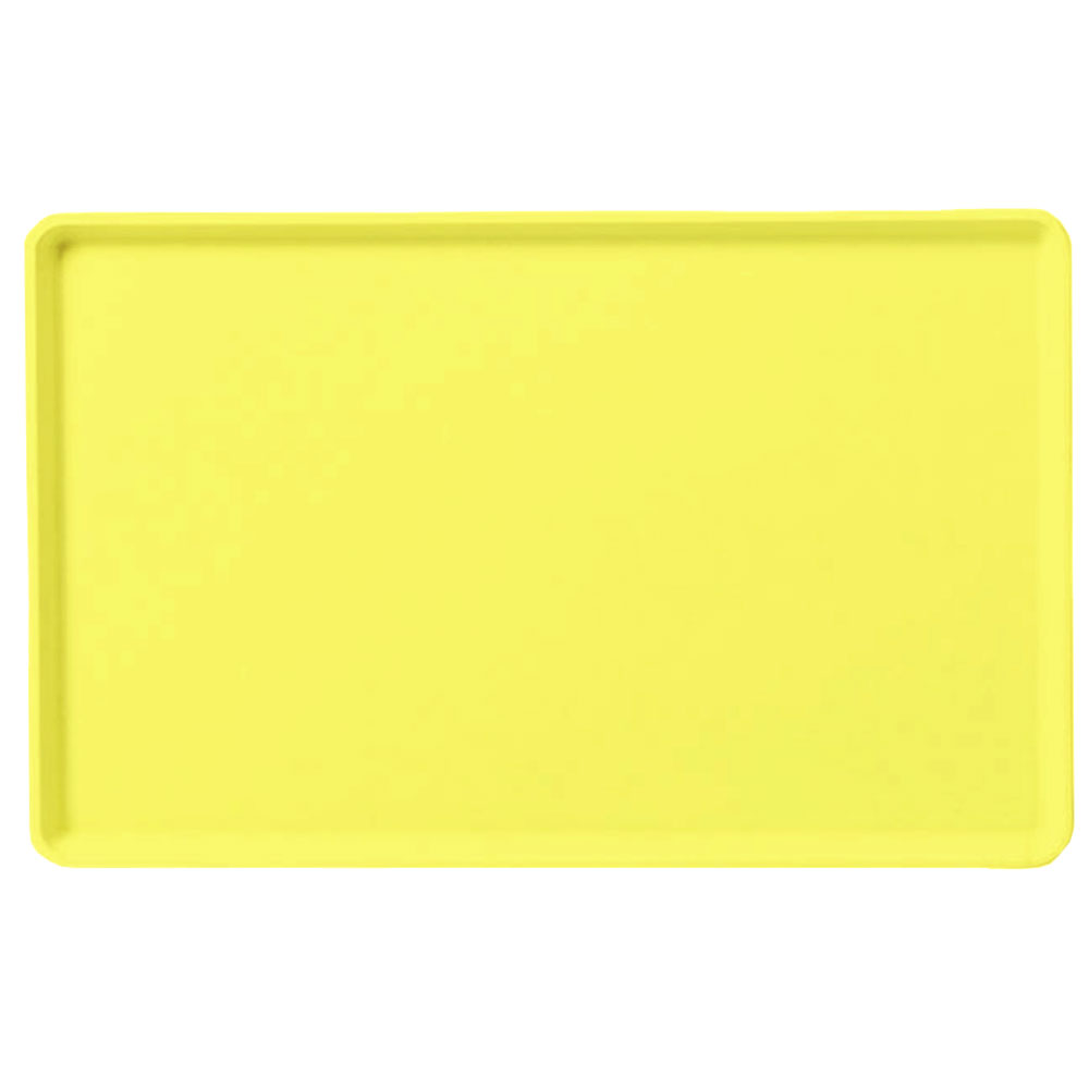 "Carlisle 1418LFG021 Rectangular Cafeteria Tray - Low-Edge, 18x14"" Pineapple"