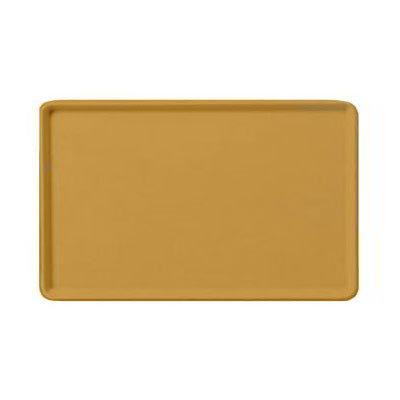 "Carlisle 1418LFG023 Rectangular Cafeteria Tray - Low-Edge, 18x14"" Gold"