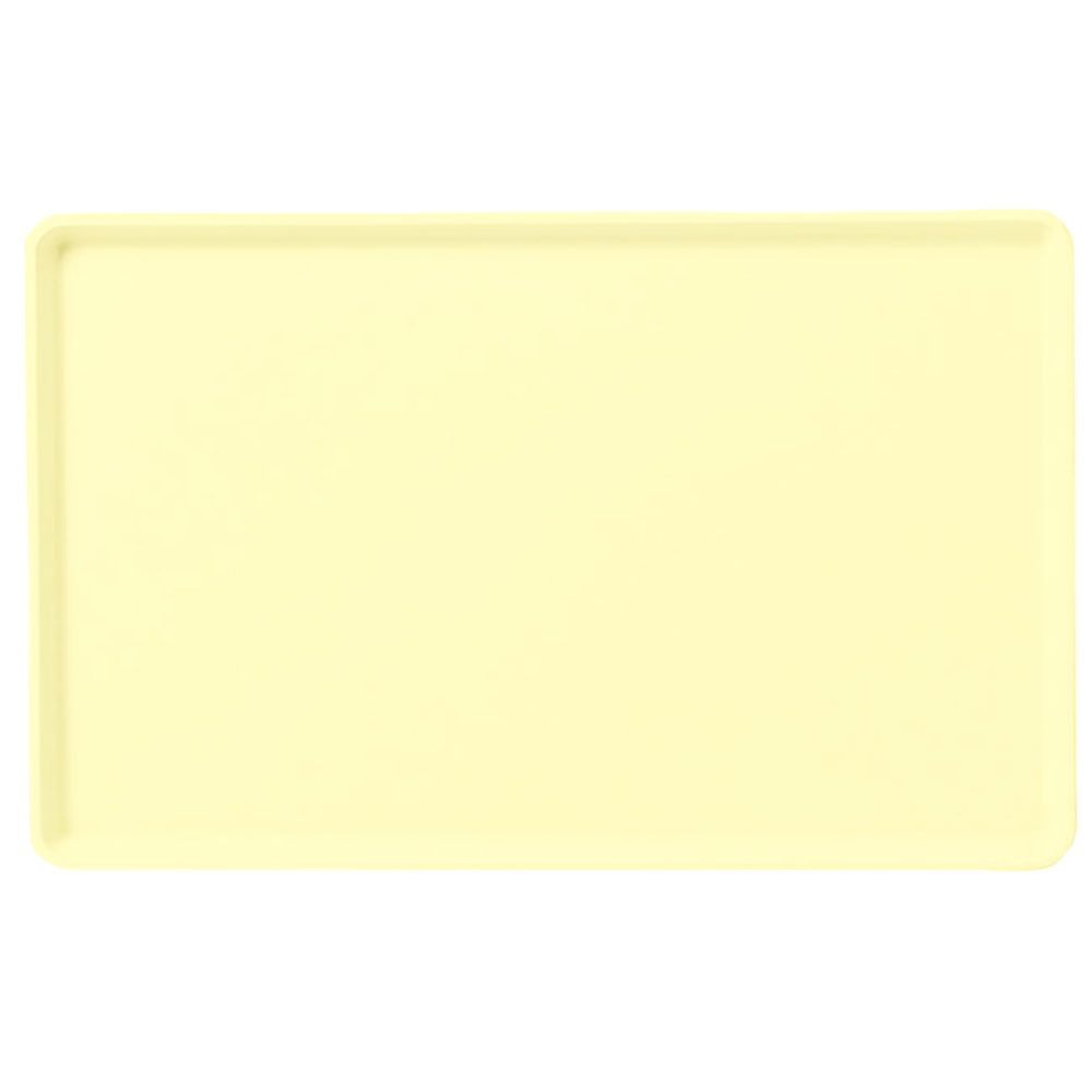 "Carlisle 1418LFG024 Rectangular Cafeteria Tray - Low-Edge, 18x14"" Lemon"
