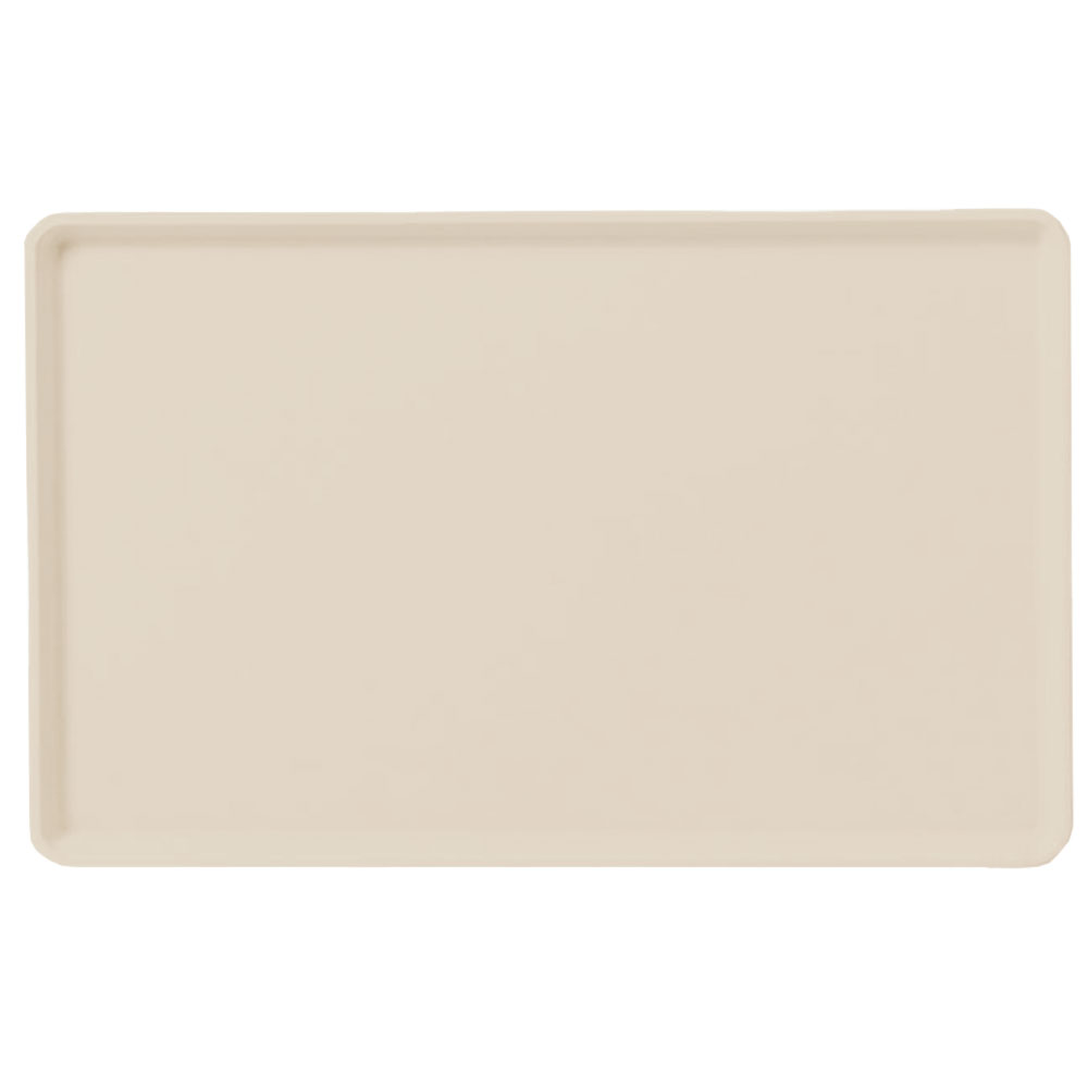 "Carlisle 1418LFG025 Rectangular Cafeteria Tray - Low-Edge, 18x14"" Beige"