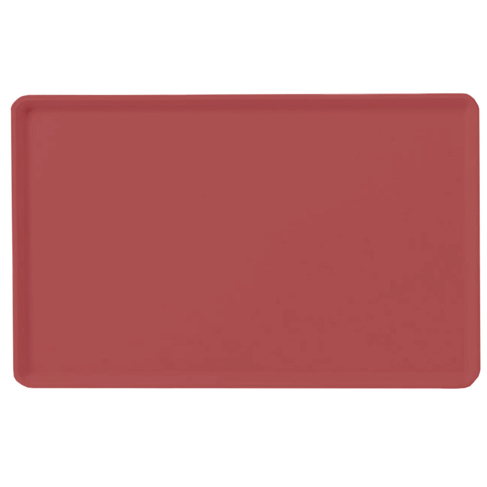"Carlisle 1418LFG069 Rectangular Cafeteria Tray - Low-Edge, 18x14"" Raspberry"