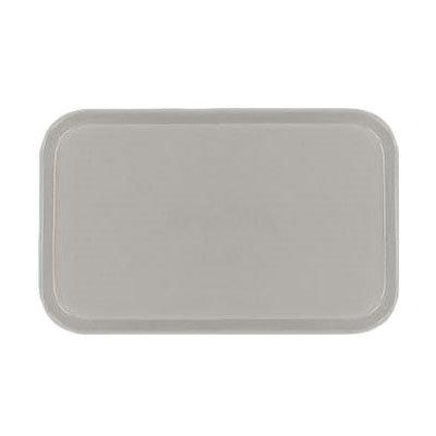Carlisle 1419FG002 Rectangular Cafeteria Tray - 38.5x50cm, Smoke Gray