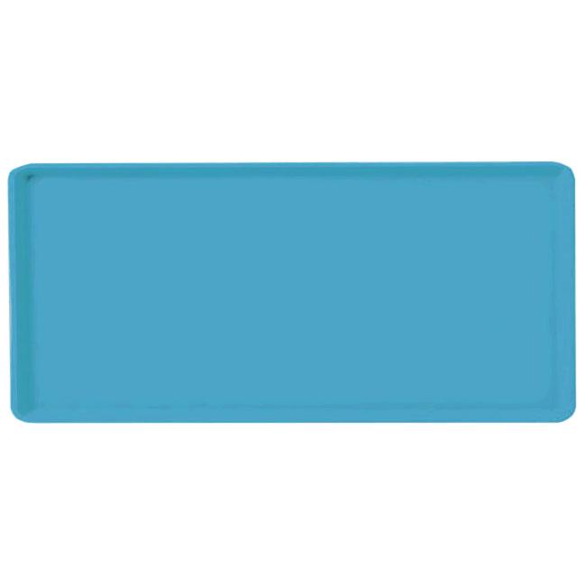 Carlisle 1419FG011 Rectangular Cafeteria Tray - 38.5x50cm, Turquoise