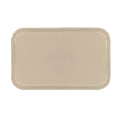 Carlisle 1419FG025 Rectangular Cafeteria Tray - 38.5x50cm, Beige