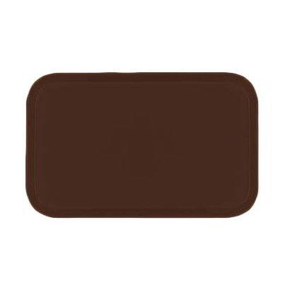 Carlisle 1419FG127 Rectangular Cafeteria Tray - 38.5x50cm, Chocolate