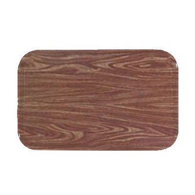Carlisle 1419WFG063 Rectangular Cafeteria Tray - 38.5x50cm, Pecan Woodgrain