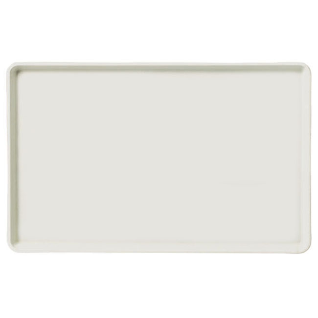"Carlisle 1520LFG001 Rectangular Cafeteria Tray - Low-Edge, 20-1/4x15"" Bone White"
