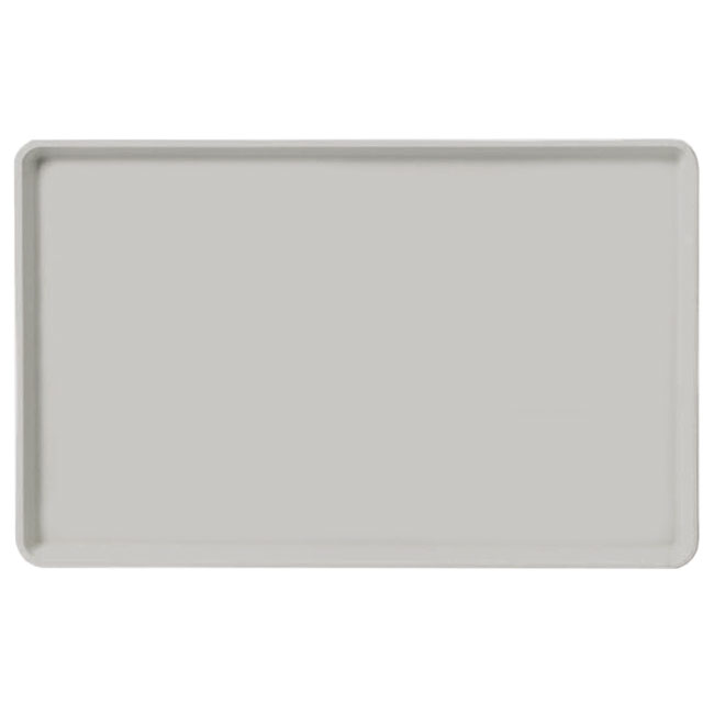 "Carlisle 1520LFG002 Rectangular Cafeteria Tray - Low-Edge, 20-1/4x15"" Smoke Gray"