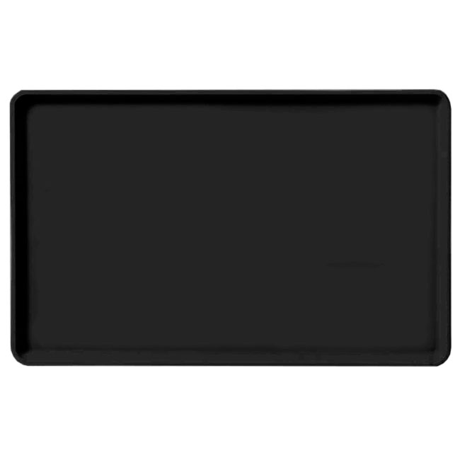 "Carlisle 1520LFG004 Rectangular Cafeteria Tray - Low-Edge, 20-1/4x15"" Black"