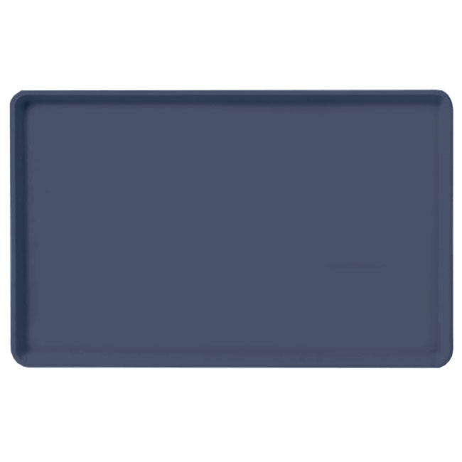 "Carlisle 1520LFG005 Rectangular Cafeteria Tray - Low-Edge, 20-1/4x15"" Pewter"