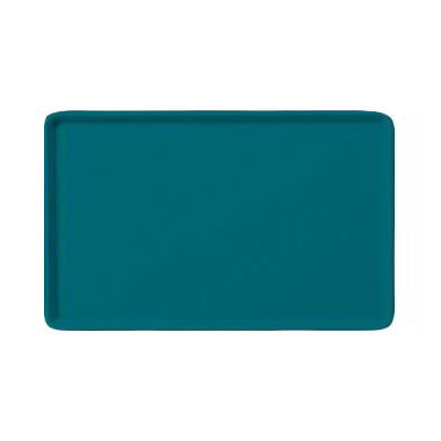 "Carlisle 1520LFG006 Rectangular Cafeteria Tray - Low-Edge, 20-1/4x15"" Ultramarine"